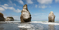 Three Sisters, one of which has fallen, North Island, New Zealand