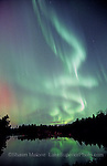 "the ""green genie"" aurora over Cataract Basin, Escanaba River, Gwinn MI. Art on the Rocks Poster award winner 2007"
