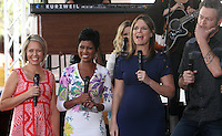 NEW YORK, NY-August 05: Dylan Dreyer, Tamron Hall  Savannah Guthrie, Blake Shelton perform on NBC's Today Show Citi Concert Series at Rockefeller Center in New York. NY August 05, 2016. Credit:RW/MediaPunch