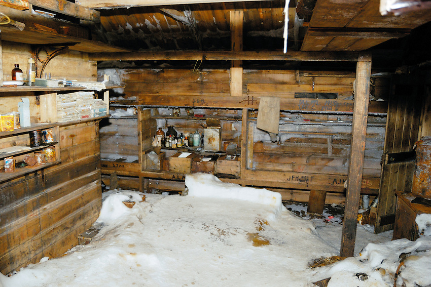Mawson Hut IV - Abandonded in 1913 and only recently conserved. This was home to 18 men for 3 years.
