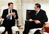 United States President Ronald Reagan meets with Ambassador Edward Rowny, Chief Negotiator, Strategic Arms Reduction Treaty (START), in the Oval Office of the White House on Monday, January 30, 1984..Mandatory Credit: Pete Souza - White House via CNP