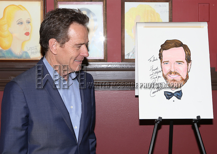 Bryan Cranston attends the Sardi's Caricature Unveiling for Bryan Cranston on May 29, 2014 in New York City
