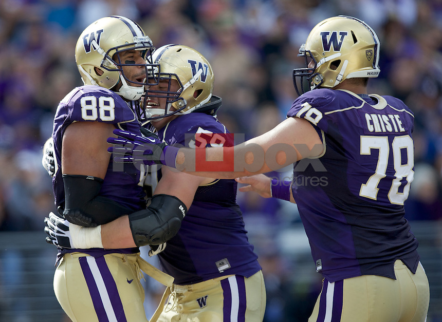 The University of Washington football team hosts Idaho State at Husky Stadium in Seattle on Friday September 21, 2013. (Photo by Stephen Brashear /Red Box Pictures)