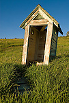 Doorless old outhouse at the old Forest Severice camp high on the western slope of the Wasatch Plateau