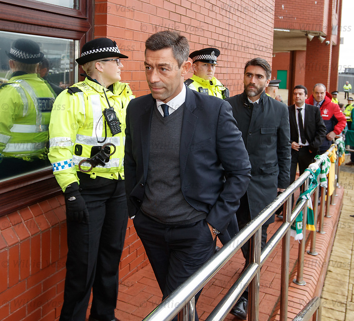 New Rangers manager Pedro Caixinha arrives at Celtic Park