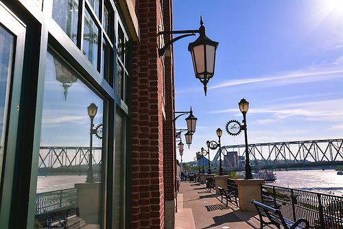 Riverwalk at Newport on the Levee on the the Kentucky side of the Ohio River.