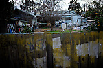 The backyard of home in the Parklawn neighborhood of Modesto, Calif., March 1, 2012.