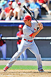12 March 2012: St. Louis Cardinals outfielder Matt Carpenter in action during a Spring Training game against the Washington Nationals at Space Coast Stadium in Viera, Florida. The Nationals defeated the Cardinals 8-4 in Grapefruit League play. Mandatory Credit: Ed Wolfstein Photo