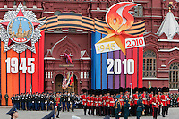 Moscow, Russia, 06/05/2010..British and American soldiers march through Red Square during a rehearsal for the forthcoming May 9 Victory Day parade, scheduled to be the largest for many years.