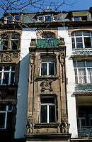 Frankfurt: Facade of building, circa 1900. Photo '87.