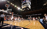 UVa women's basketball team at John Paul John arena.