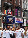 Gay and lesbian Pride parade in Toronto Ontario Canada 2009