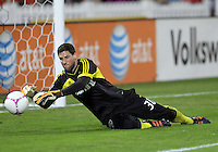 WASHINGTON, DC - OCTOBER 20, 2012:  Andy Gruenebaum (30) of the Columbus Crew during an MLS match against D.C United at RFK Stadium in Washington D.C. on October 20. D.C United won 3-2.