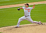 20 May 2012: Baltimore Orioles pitcher Dana Eveland on the mound against the Washington Nationals at Nationals Park in Washington, DC. The Nationals defeated the Orioles 9-3 to salvage the third game of their 3-game series. Mandatory Credit: Ed Wolfstein Photo