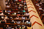 Sunday mass takes places at Cathedral of Christ the King in Atlanta, Georgia, August 12, 2012. The parish, which now has 11 masses per weekend and 12,000 members, was established in 1936. The land on Peachtree was bought from the KKK...Connie Melgaar on organ.Melody Parker singing