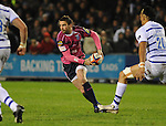 Nick Robinson gets the ball wide. Cardiff Blues V Bath, EDF Energy Cup. &copy; Ian Cook IJC Photography iancook@ijcphotography.co.uk www.ijcphotography.co.uk