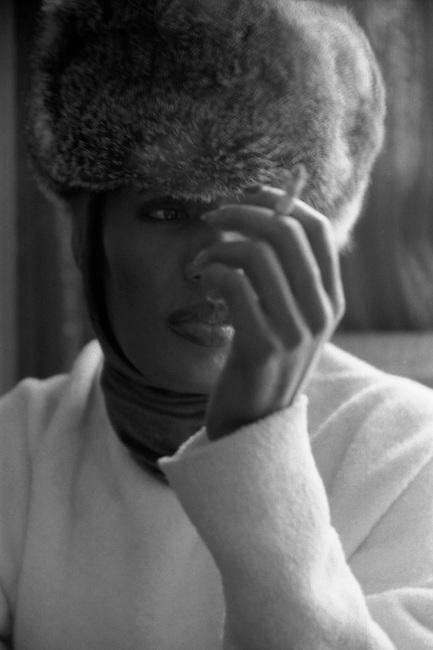 Grace Jones Black & White Portrait