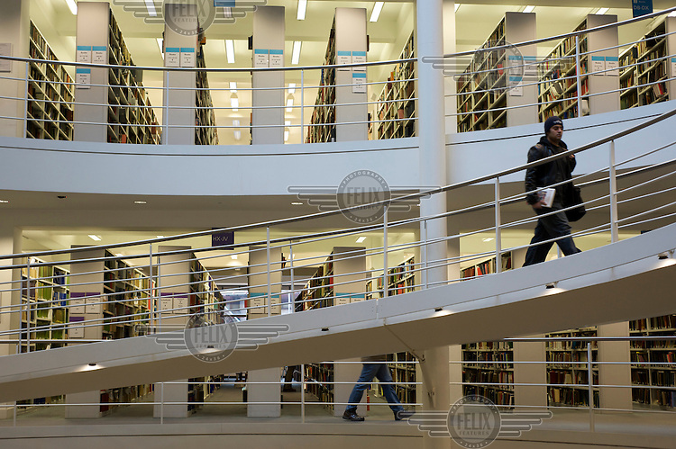 The library at the London School of Economics (LSE).