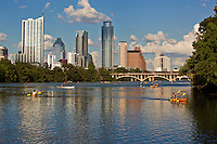 Canoeing, Kayaking, and Stand Up Paddle Boards are a favorite pastime on Town Lake in Austin, TX