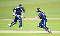 Picture by Allan McKenzie/SWpix.com - 16/05/2017 - Cricket - Royal London One-Day Cup - Yorkshire County Cricket Club v Leicestershire County Cricket Club - Headingley Cricket Ground, Leeds, England - Yorkshire's Tim Bresnan & Gary Ballance take a run against Leicestershire.