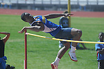 Oxford High's Justin Fondren high jumps in the Oxford Eagle Invitational track meet in Oxford, Miss. on Saturday, March 10, 2012. Oxford won 6-5.