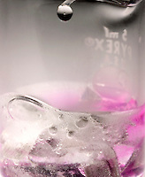 MAGNESIUM REACTS WITH WATER &amp; HCL: 3 of 3<br /> When HCL Is Added Magnesium Reacts Vigorously<br /> With the addition of hydrochloric acid, the pH of the solution is lowered, making disappear the pink of the phenolphthalein. Magnesium chloride is formed and hydrogen gas evolves vigorously.