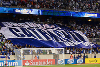 Honduras tifo. Honduras defeated Haiti 2-0 during a CONCACAF Gold Cup group B match at Red Bull Arena in Harrison, NJ, on July 8, 2013.