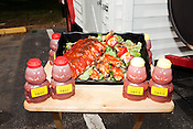 June 22, 2011. Durham, NC..Michael Lloyd, the owner of NumNum Sauce. NumNum sauce is being presented as a new condiment, with flavors appropriate for meats,fish and vegetables.