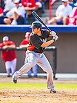 9 March 2013: Miami Marlins catcher Jake Jefferies in action during a Spring Training game against the Washington Nationals at Space Coast Stadium in Viera, Florida. The Nationals edged out the Marlins 8-7 in Grapefruit League play. Mandatory Credit: Ed Wolfstein Photo *** RAW (NEF) Image File Available ***