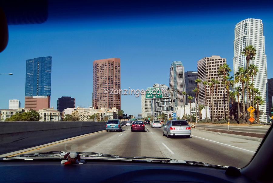 Downtown Los Angeles, CA,  Freeway,