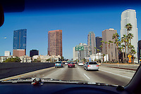 Downtown Los Angeles, CA,  Freeway,