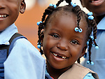 A girl lines up at school in Batey Bombita, a community in the southwest of the Dominican Republic whose population is composed of Haitian immigrants and their descendents.