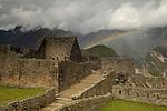 Rainbow at Machu Picchu, Peru. © Michael Brands. 970-379-1885.