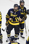 Carter Madsen (Merrimack - 9), Karl Stollery (Merrimack - 7) - The Boston College Eagles defeated the visiting Merrimack College Warriors 3-2 on Friday, October 29, 2010, at Conte Forum in Chestnut Hill, Massachusetts.