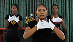 Young Haitian-Dominican women perform liturgical dance during worship in an evangelical church in La Hoya, a small rural town near Barahona in the southwest of the Dominican Republic. The service brings together Dominicans and Haitian-Dominicans from a nearby batey in an unusual demonstration of unity in a land where discrimination against Dominicans of Haitian ancestry is growing.