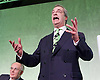 Grassroots Out Public Rally Campaign event at Queen Elizabeth Conference Centre, London, Great Britain <br /> 19th February 2016 <br /> <br /> Peter Bone MP <br /> <br /> Nigel Farage MEP <br /> leader of the UKIP party <br /> speaks at rally <br /> <br /> Photograph by Elliott Franks <br /> Image licensed to Elliott Franks Photography Services