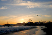 The sunset in Santa Monica on Thursday, June 2, 2011.