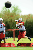 Jun 9, 2008; Tempe, AZ, USA; Arizona Cardinals tackle (60) Peter Clifford does drills during mini camp at the Cardinals practice facility. Mandatory Credit: Mark J. Rebilas-