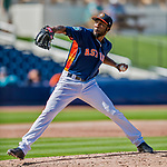 1 March 2017: Houston Astros pitcher Reymin Guduan on the mound during Spring Training action against the Miami Marlins at the Ballpark of the Palm Beaches in West Palm Beach, Florida. The Marlins defeated the Astros 9-5 in Grapefruit League play. Mandatory Credit: Ed Wolfstein Photo *** RAW (NEF) Image File Available ***