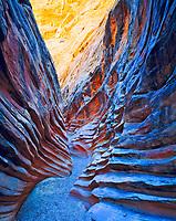 Ribbed Sandstone, Little Wild Horse Canyon, San Rafael Swell, Utah