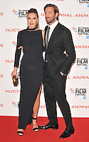 Elizabeth Chambers and Armie Hammer at the &quot;Nocturnal Animals&quot; 60th BFI London Film Festival Headline gala screening, Odeon Leicester Square cinema, Leicester Square, London, England, UK, on Friday 14 October 2016.<br /> CAP/CAN<br /> &copy;CAN/Capital Pictures /MediaPunch ***NORTH AND SOUTH AMERICAS ONLY***