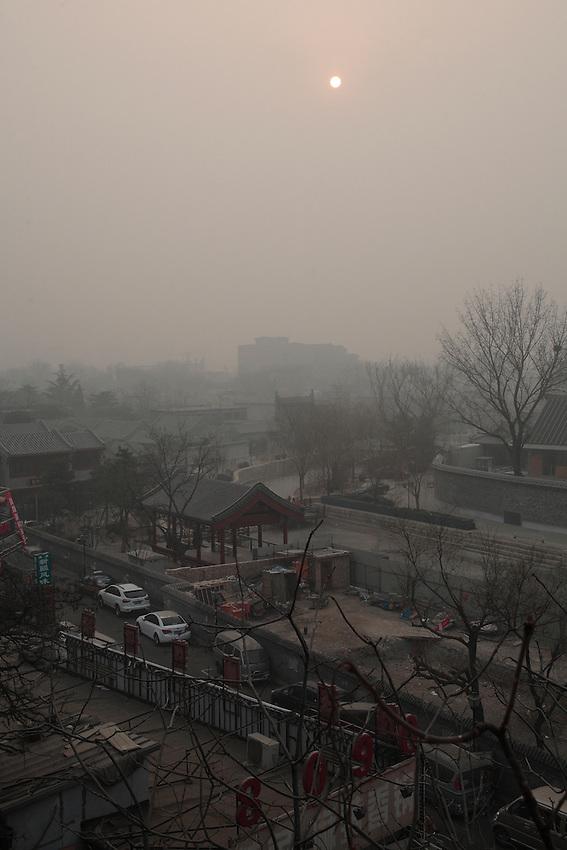 Le canal le long de Mao'er hutong.