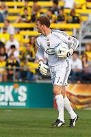 24 OCTOBER 2010:  Columbus Crew goalkeeper William Hesmer (1) during MLS soccer game against the Philadelphia Union at Crew Stadium in Columbus, Ohio on August 28, 2010.