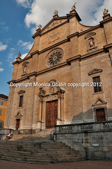 Church of Saint Peter and Saint Stephen in Bellinzona, Switzerland