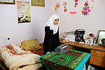 Asmaa Abu Hilal,18, a Palestinian blind studen stands at her family house in Rafah in the southern Gaza strip on Feb. 14, 2017. Abu Hilal superior at her study although there are no private schools for the blind in the city of Rafah. Photo by Ebtehal Shurab