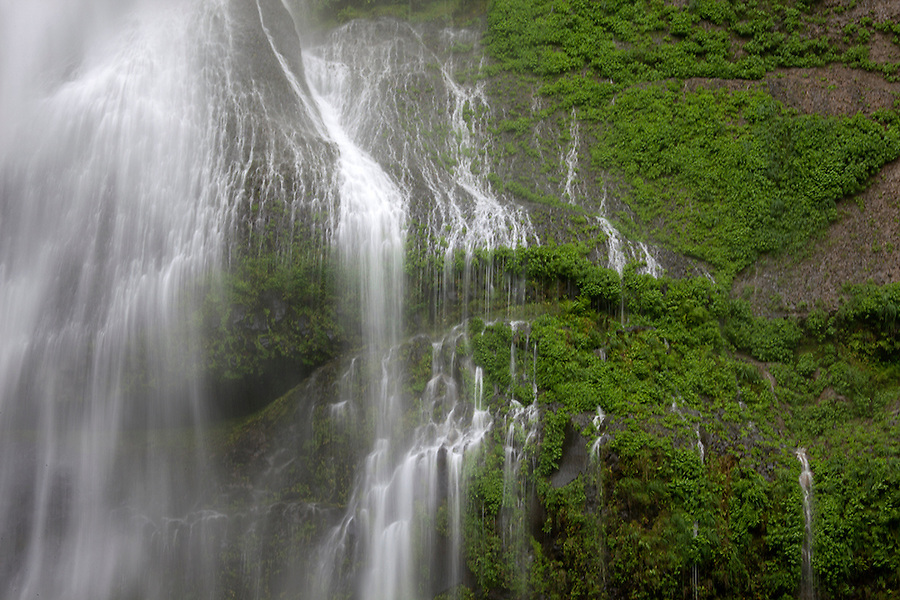 Waterfall detail in Olympic National Park, Washington, WA, USA