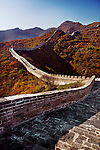 Great Wall of China in fall scenery. Badaling, Beijing, China.