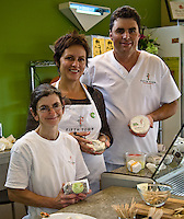 Petra C. Kassun-Mutch, founder and CEO, Stephanie Diamant, master cheese maker, and Todd Burley, plant manager, Fifth Town Artisan Cheese Co.