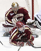 Parker Milner (BC - 35), Pat Mullane (BC - 11) - The Providence College Friars tied the visiting Boston College Eagles 3-3 on Friday, December 7, 2012, at Schneider Arena in Providence, Rhode Island.