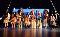MIAMI, FL - SEPTEMBER 29: Wannu, Yawavana, KenewecÌ, Matsa Hushahu,  Meu, Matsini, Pek˙ti and Hukena performs during the Journey to Mutum: A Cultural Encounter with the Yawanaw· Tribe of the Brazilian Amazon at Miami Theater Center on September 29, 2016 in Miami, Florida. Credit: MPI10 / MediaPunch